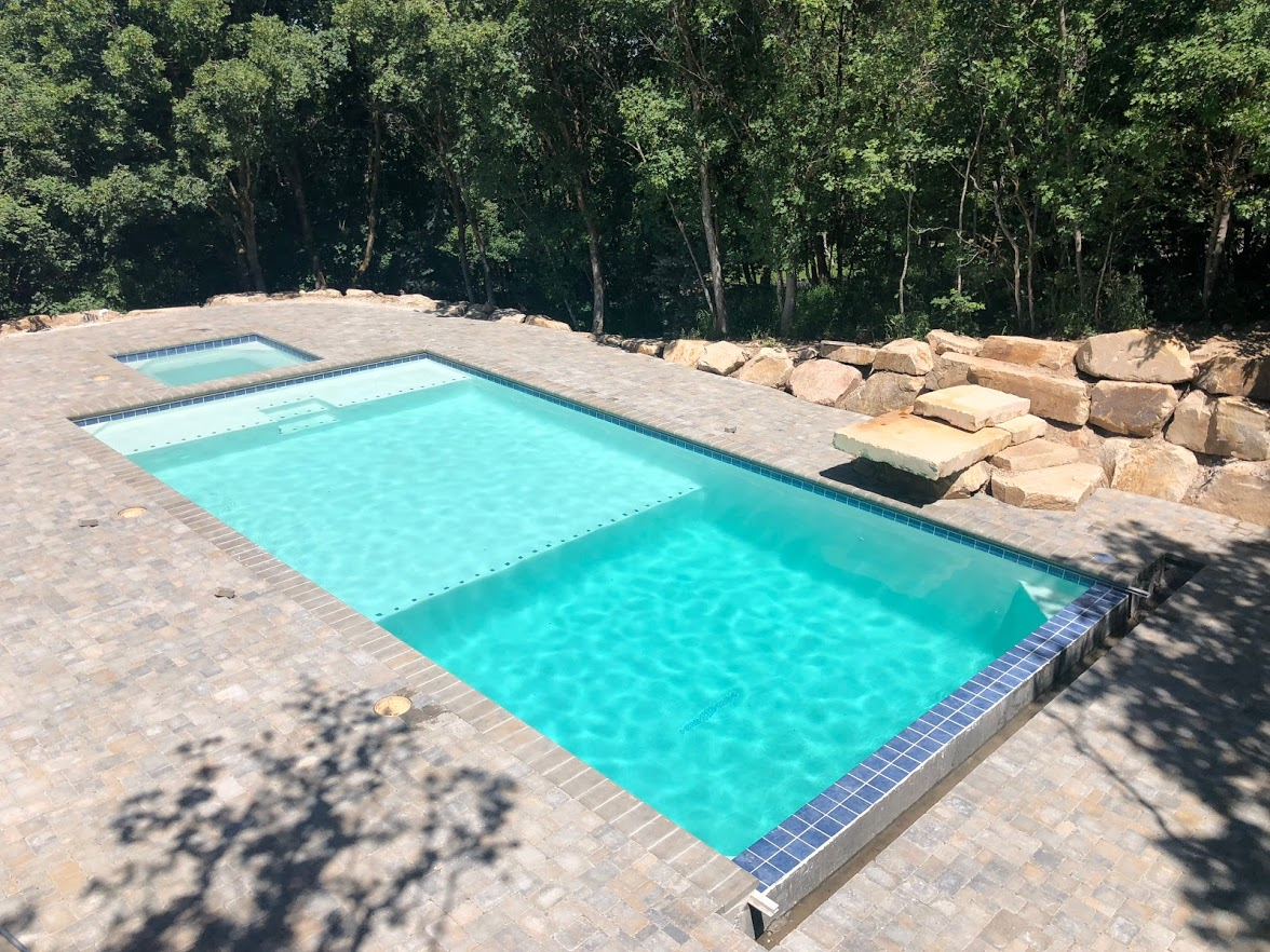 Small swimming pool built by Nautica
